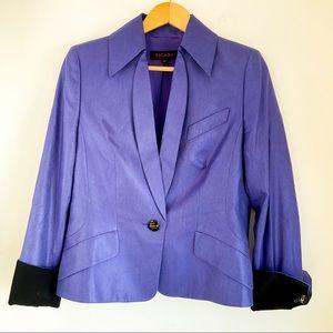 ESCADA 💯 Silk Mauve Tailored Blazer - High End
